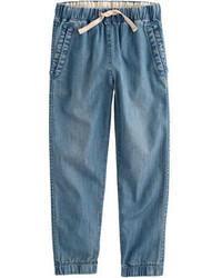 J.Crew Girls Slouchy Chambray Pull On Pant