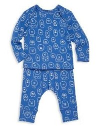 Stella McCartney Kids Babys Two Piece Monster Top Pants Set