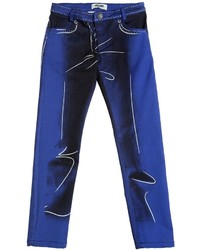 Moschino Shadow Printed Cotton Gabardine Pants