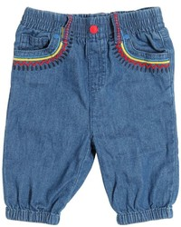 Stella McCartney Embroidered Light Cotton Denim Pants