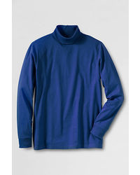 Lands' End Big Super T Turtleneck Black Soccer Ball