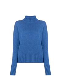 Lamberto Losani Ribbed Turtle Neck Sweater