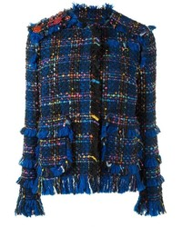 Msgm fringed tweed jacket medium 1158155