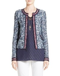 St. John Collection Asha Zip Front Tweed Jacket