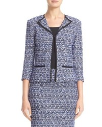 St. John Collection Delphinium Tweed Jacket