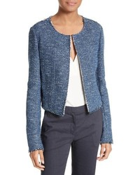 Theory Ualana Indigo Tweed Jacket