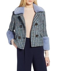 Halogen X Atlantic Pacific Tweed Jacket With Removable Faux