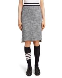 Thom Browne Stripe Tweed Pencil Skirt