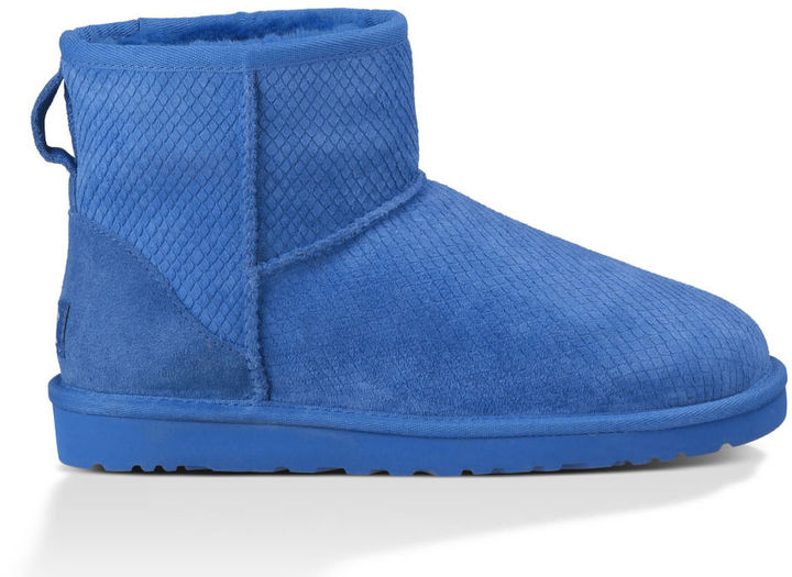 ... Blue Uggs UGG Classic Mini Exotic Scales