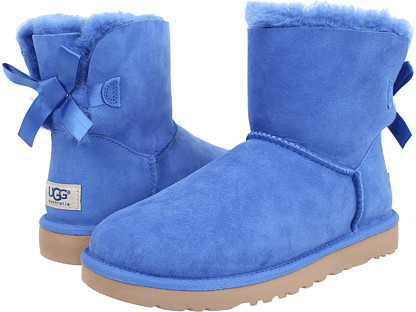 ... Blue Uggs UGG Mini Bailey Bow ...