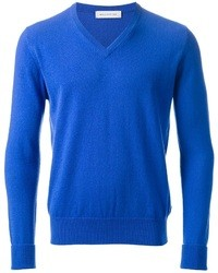 Blue V-neck Sweater
