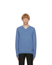Valentino Blue Viscose Sweater