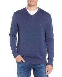 Vineyard Vines Cotton Cashmere V Neck Sweater