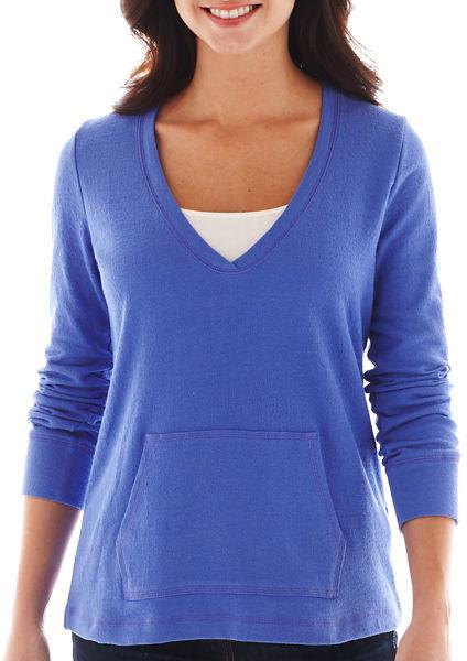 Liz claiborne long sleeve v neck sweatshirt tall where for Liz claiborne v neck t shirts