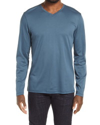 Robert Barakett Long Sleeve V Neck T Shirt