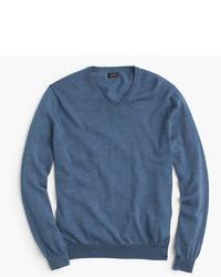 Merino wool v neck sweater medium 333770