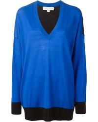 MICHAEL Michael Kors Michl Michl Kors V Neck Oversized Sweater