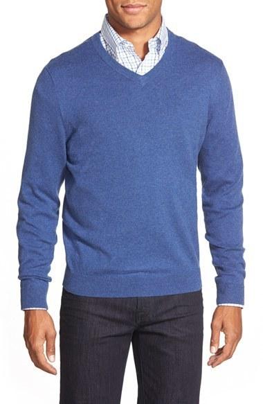 0455f8d9ff85 Nordstrom Men s Nordstrom Men s Shop Cashmere V-Neck Sweater