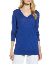 Halogen Relaxed V Neck Sweater