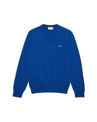 Lacoste Tricot V Neck Cotton Sweater