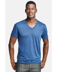 John Varvatos Collection Linen V Neck T Shirt