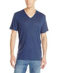 John Varvatos Star Usa Short Sleeve Slub V Neck T Shirt