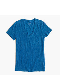 J.Crew Linen V Neck Pocket T Shirt