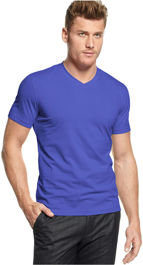 Alfani Red T Shirt Fitted V Neck T Shirt | Where to buy & how to wear