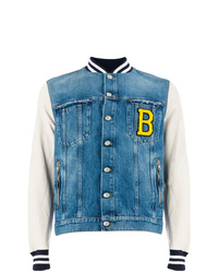 Balmain Denim Body Varsity Jacket