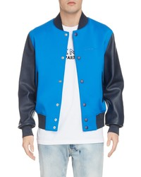Givenchy Mixed Media Bomber Jacket