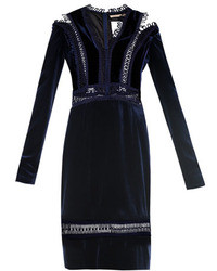 Christopher Kane Velvet Loop Tape Trimmed Dress
