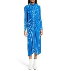 Stretch velvet midi dress medium 5209670