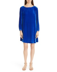 Eileen Fisher Bateau Velvet Shift Dress