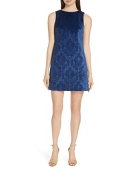 Alice + Olivia Clyde A Line Damask Shift Dress