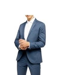 Topman Felix Pinstripe Super Skinny Suit Jacket