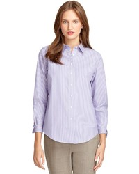 Stella jean cotton button up shirt where to buy how to for Jones new york no iron easy care boyfriend shirt