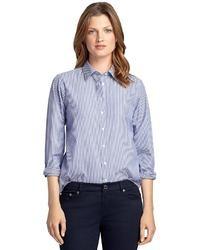 Brooks Brothers Classic Fit Non Iron Stripe Dress Shirt