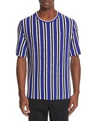 Maison Margiela Stripe Wool Blend T Shirt