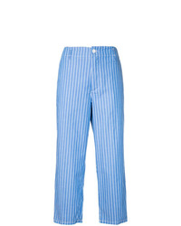 Golden Goose Deluxe Brand Stripe Cropped Wide Leg Trousers