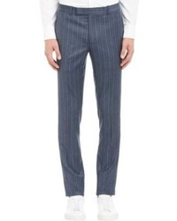 Blue Vertical Striped Dress Pants