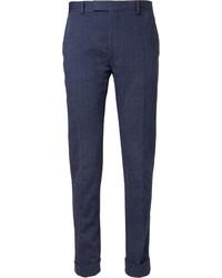 Gant Rugger Navy Slim Fit Cotton Blend Suit Trousers
