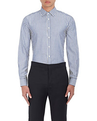 Brooklyn Tailors Striped Cotton Oxford Cloth Dress Shirt