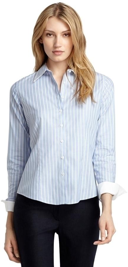 Fitted dress shirt fittedt shirt fitted shirtsmens for Vertical striped dress shirt