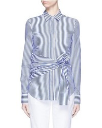 Nicholas Candy Stripe Wrap Front Shirt