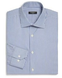 Saks Fifth Avenue Collection Trim Fit Striped Cotton Dress Shirt