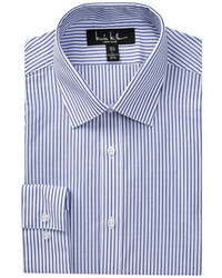 Nicole Miller Long Sleeve Modern Fit Stripe Dress Shirt