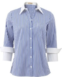 Michael Kors Michl Kors Double Cuff Striped Shirt