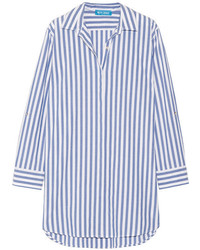 Mih jeans oversized striped cotton shirt blue medium 1342874