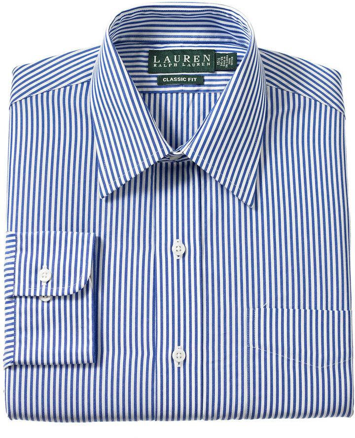 c776e7ab Lauren Ralph Lauren Non Iron Blue Bengal Stripe Dress Shirt, $69   Macy's    Lookastic.com
