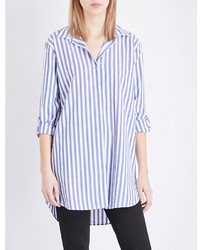 MiH Jeans Oversized Striped Cotton Shirt
